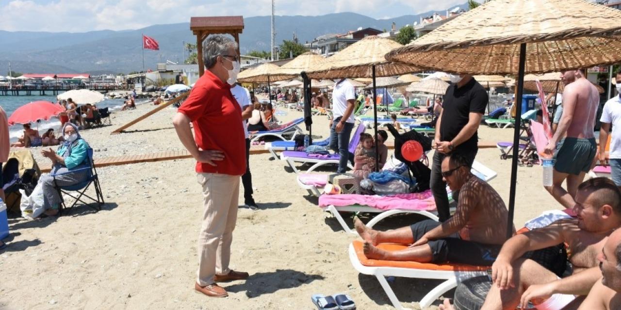Akçay plajı yeniden halkın  oldu