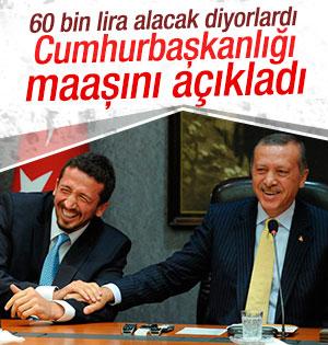 Cumhurbaşkanlığı Hidayet Türkoğlu'nun maaşını açıkladı