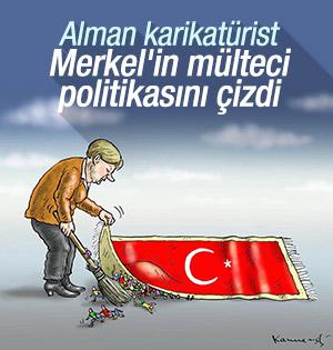 Alman karikatürist, Almanyanın mülteci politikasını çizdi