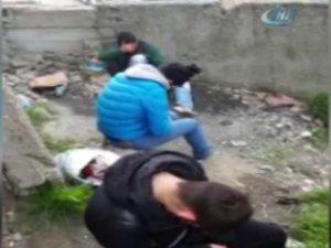 Uyuşturucu kullanan gençlerin ibretlik görüntüsü kamerada  - Pendik