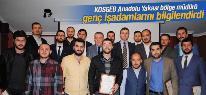 KOSGEB Anadolu Yakası Bölge Müdürü, Genç İş Adamlarını Bilgilendirdi
