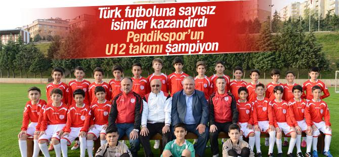 Pendikspor'un 12'likleri Şampiyon