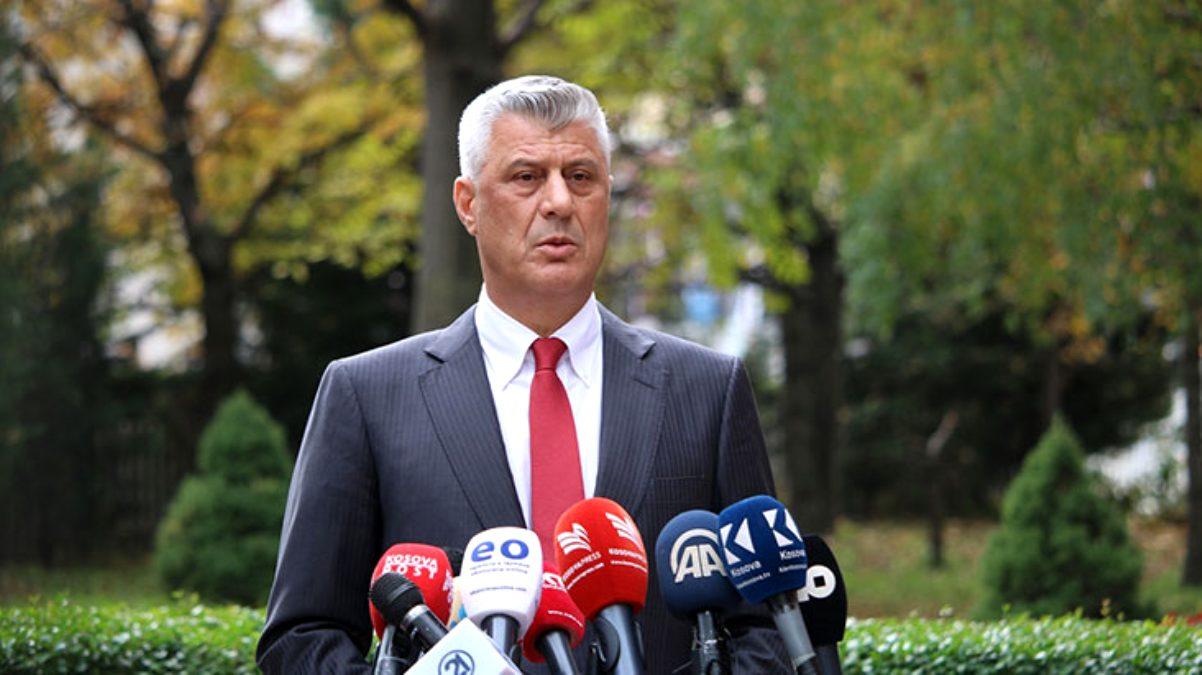 Kosova'da istifa eden Cumhurbaşkanı Thaçi'nin evine operasyon düzenlendi