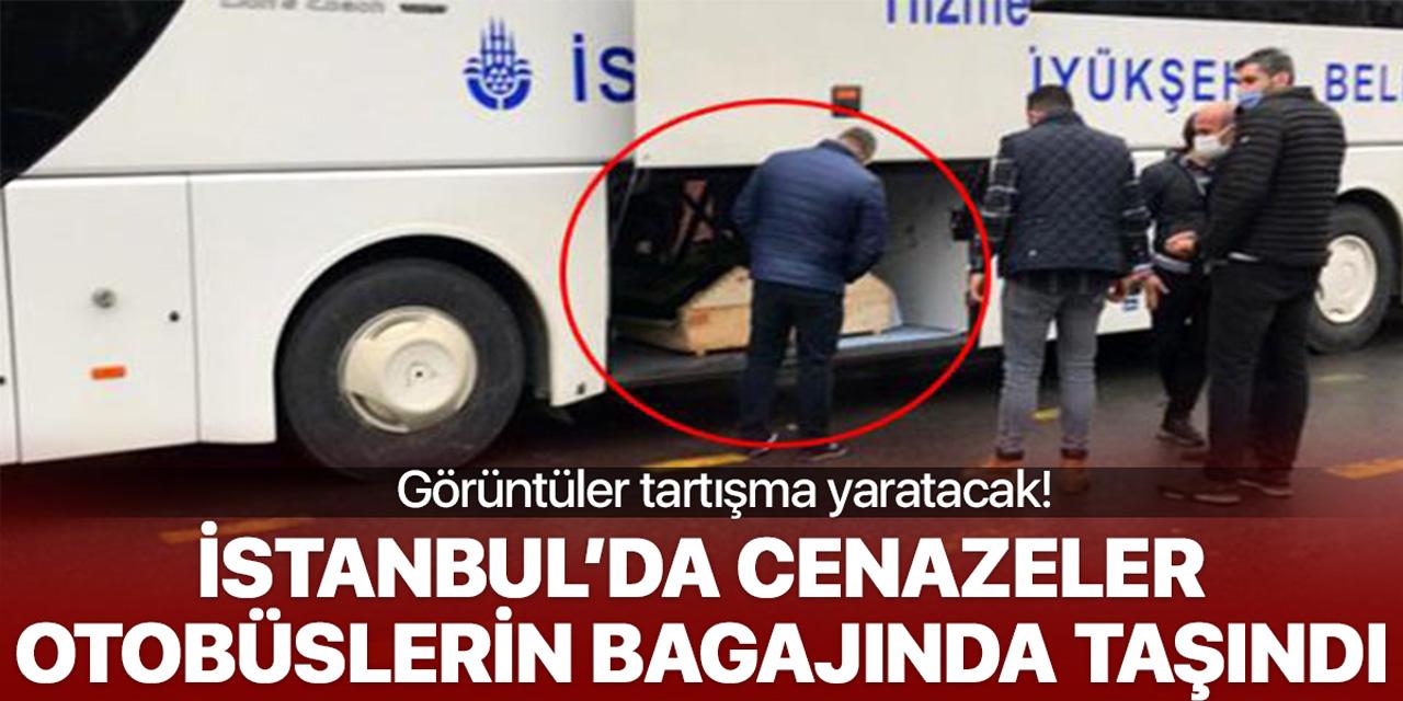 İstanbul'da cenazeler İBB otobüsünün bagajında taşındı!