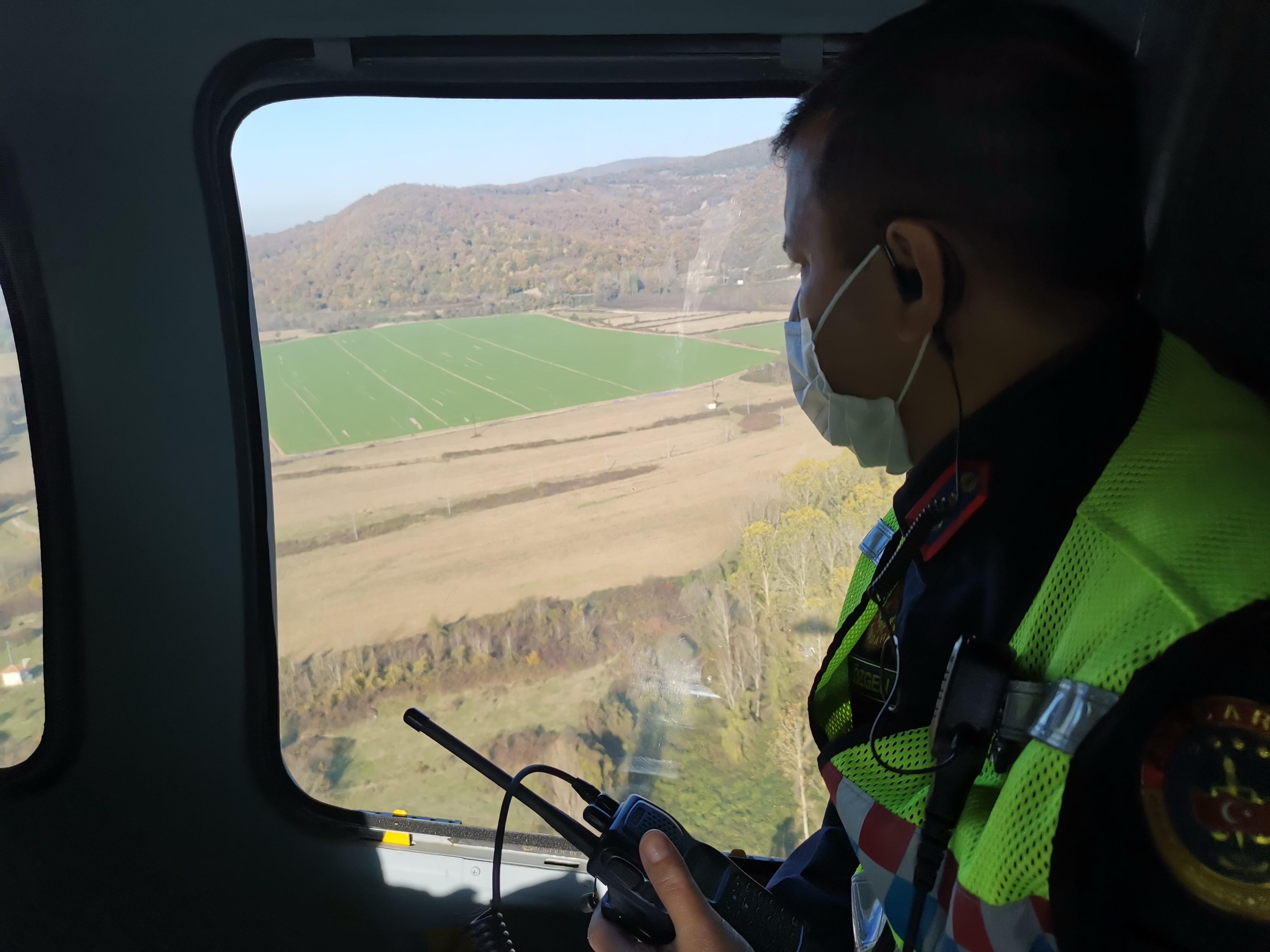 Zonguldak'ta kural ihlali yapan sürücüler jandarma helikopteriyle havadan tespit edildi