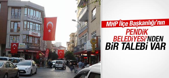 """MHP Pendik'ten Sokağa """"Şehit Binbaşı Ahmet Karaman"""" adı verilsin talebi"""