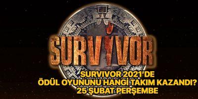 Survivor 2021 ödül oyununu hangi takım kazandı? 25 Şubat Perşembe