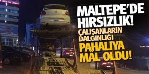 Maltepe'de hırsızlık! çalışanların dalgınlığı pahalıya mâl oldu!