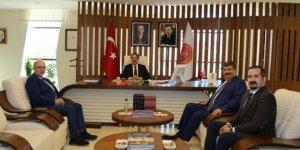 KTO Karatay Üniversitesi Rektörü Sade'den Rektör Bağlı'ya ziyaret