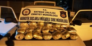 Batman'da 21 kilo 806 gram toz esrar maddesi ele geçirildi