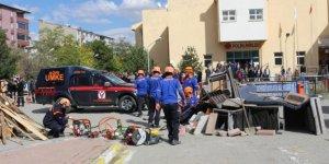 Ağrı'da deprem ve yaygın tatbikatı