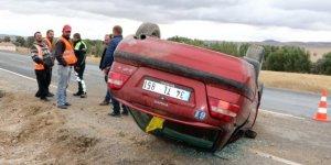Yozgat'ta otomobil takla attı: 1 yaralı