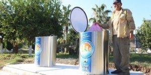 Mezitli'de yeraltı çöp konteynerleri artıyor
