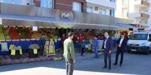 Belediye başkan vekili Aksoy, çalışmaları yerinde inceledi