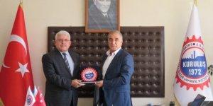 PTT Başmüdürü Ersoy Çorlu Sanayi Sitesi yöneticileriyle vedalaştı