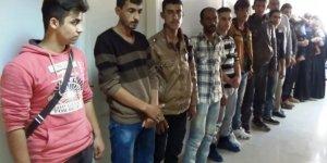 İskenderun'da 16 kaçak göçmen yakalandı