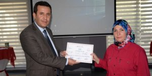 Engelli bakım kursiyerleri sertifikalarına kavuştu