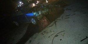 Denizli'de iki otomobil çarpıştı: 1'i ağır 5 yaralı