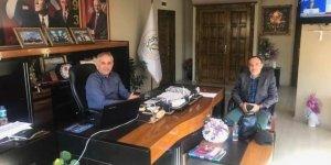 Başkan Yaman, fabrika müdürüyle bir araya geldi
