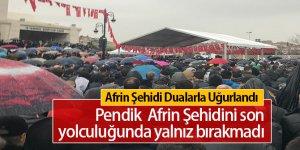Afrin Şehidi Koray Karaca Pendik'te Son Yolculuğuna Uğurlandı