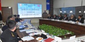 Acil Çağrı Hizmetleri Vali Güvençer başkanlığında toplandı