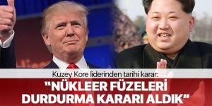 Kuzey Kore Liderinden Tarihi Karar: Nükleer Denemeleri Durdurduk