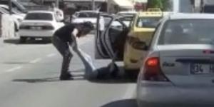 Ümraniye'de de taksici dehşeti! Kadını bacağından sürükledi