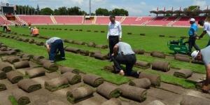 Atatürk Stadının çimleri sökülmeye başladı