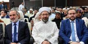 Diyanet İşleri Başkanı Erbaş, ABD'li Müslüman heyeti kabul etti