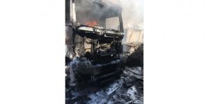 Park halindeki araçta yangın: 1 yaralı