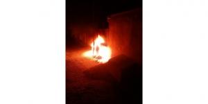 Derik'te kaçak elektrik için panoyu yaktılar