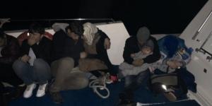 Kuşadası Körfezi ve Didim'de 76 kaçak göçmen yakalandı