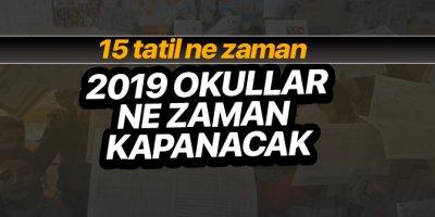 15 tatil ne zaman, 2019 Sömestr yarıyıl tatili ne zaman? İşte okulların kapanacağı tarih