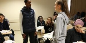 Yabancı öğrencilerin Türkçe ile imtihanı