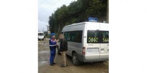 Giresun'da alkollü öğrenci servisi sürücüsü jandarmaya yakalandı