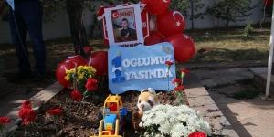 Hakkari'de şehit olan Bedirhan bebeğin doğum günü mezarı başında kutlandı