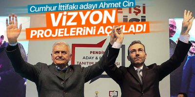 Cumhur İttifakı adayı Ahmet Cin vizyon projelerini açıkladı
