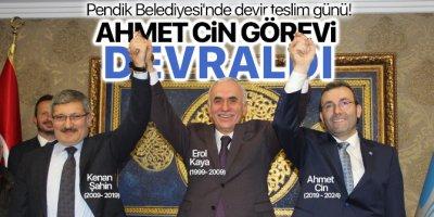 Pendik Belediyesi'nde devir teslim günü! Ahmet Cin görevi devraldı