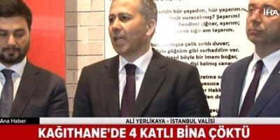 İstanbul Valisi Ali Yerlikaya çöken binaya ilişkin açıklamalarda bulundu