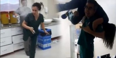 Manisa Alaşehir Devlet Hastanesi'nde skandal! Yoğun bakımda köpüklü parti yaptılar