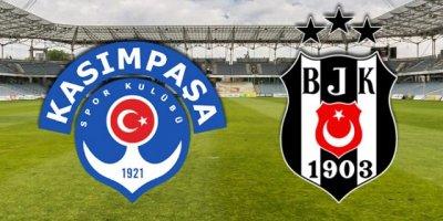 Beşiktaş - Kasımpaşa maçında ilk 11'ler