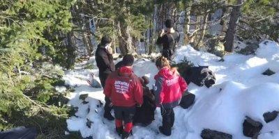 Uludağ'da kaybolan dağcıları arama çalışmaları montun bulunduğu bölgede yoğunlaştı (2)
