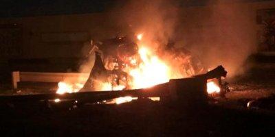 İran'lı komutanın öldürüldüğü saldırıdan son görüntüler
