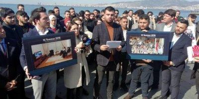 AK Parti'li gençlerden Kılıçdaroğlu'na fotoğraflarla FETÖ tepkisi