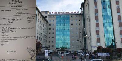 Rize'de koronavirüs paniği! Bir kişi karantina altına alındı