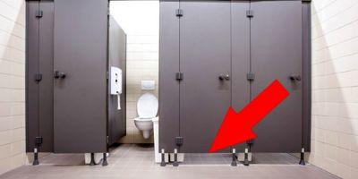 Hiç merak ettiniz mi? Umumi tuvaletlerin kapısı neden yere kadar değmez?