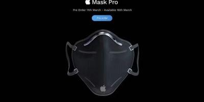 Apple, Koronavirüsle böyle dalga geçti! İşte Apple Mask Pro