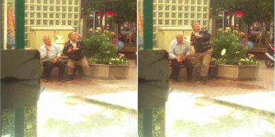 Isparta'da bankta oturan yaşlıları kaldırmak için üstlerine su döktüler