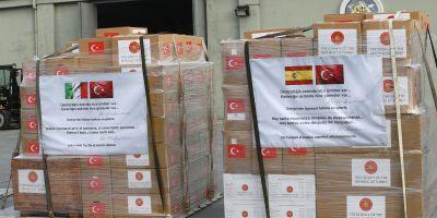 Türkiye'den İtalya ve İspanya'a tıbbi malzeme yardımı