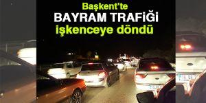 Başkent'te bayram dönüşü trafik çilesi